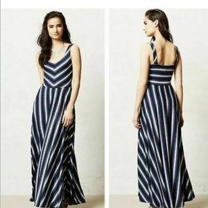 Anthropologie Puella blue/black/grey Maxi Dress